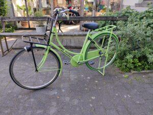 Gazelle groen omafiets 1v 180€